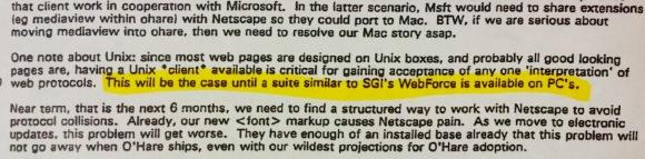 Microsoft Memo